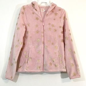 🍁3/$15 Wonder Nation Girls Pink &Gold Star Jacket
